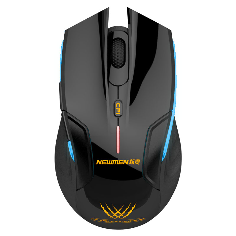 Original E500 2.4G Smart Power Saving Two Speed Variable Gaming Wireless Mouse Mini Receiver Free Shipping