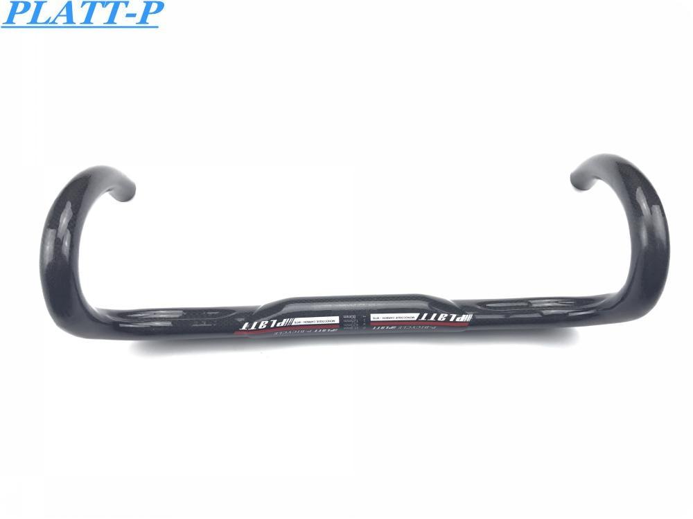 2016 Ny produkt PLATT 3K glansig full kol manubrio della bici della - Cykling