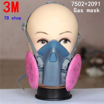 3 M 7502 + 2091 respirator gasmasker hoge kwaliteit filter masker tegen Auto fabrikant Spuiten Schilderen beschermende masker