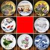 Ceramic Ornament Beauty Figurines Home Furnishing Crafts Chinese Style Porcelain Plates Handicraft Wedding Desktop Decor G $ 3
