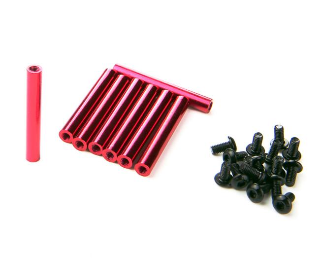 wholeale Red Female M3 35mm Round Aluminum alloy Standoffs Spacer Stud Fastener for FPV QVA250 mini