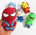 5 unids/set Los Vengadores Super Heroes Juguetes de Peluche Wolverine Thor Capitán América Spider Man Iron Man Muñecos de Peluche Colgante