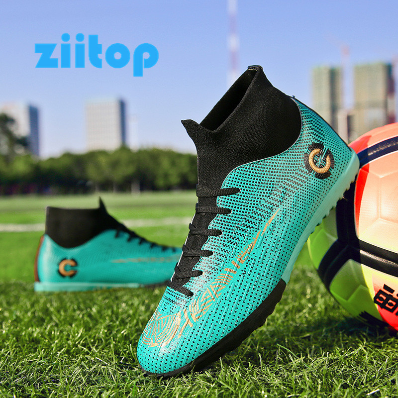Boots Sneakers Soccer-Shoes Turf Spikes Futsal Zapatos-De-Futbol Indoor Soft Long Men