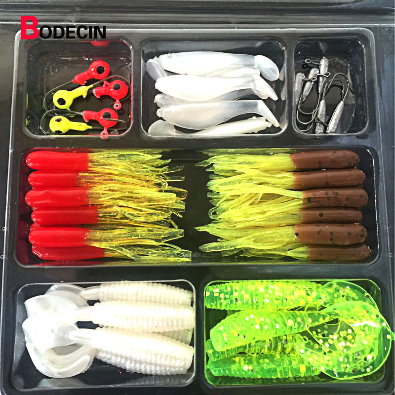 45pcs Wobblers Fishing Lures Wobbler Lure Artificial Bait Jig Silicone For Shad Tackle Fly Soft Baits Supplies All Hooks Goods 4pcs fishing wobblers lure wobbler lures for peche artificial bait trolling seabass minnow yo zuri hard baits black fish 8 5cm