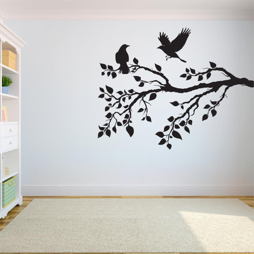 Group of Birds Flying Home Decor Wall Decal Art Sticker Black