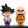 2 PCS Anime Dragon Ball Z Action Figure PVC Son Goku Kuririn juguetes Anime puppets Figure Toys for children