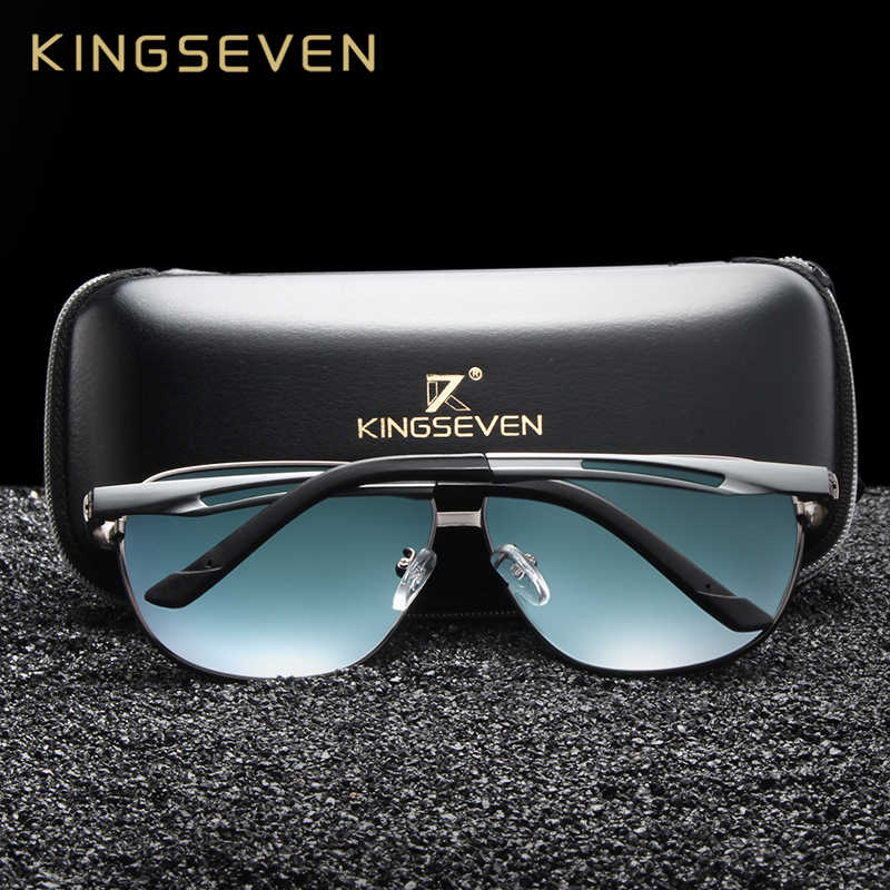 Kingseven marca designer polarizado óculos de sol para homem condução quadro de alumínio viajar óculos de sol oculos gafas