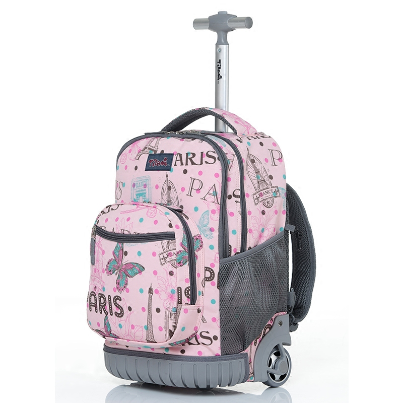 Personality girl one way wheel trolley bag,Student Suitcase,Multi function Luggage,16/18 inch Boarding backbag,Trendy trunk