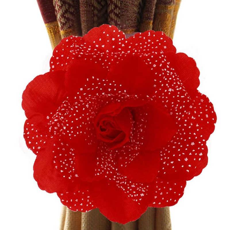 Curtain Clip Flowers Home Decor Clip Curtain Tieback Living Room Bedroom Curtain Clip-on Tie Backs Holdback Tieback Holder Panel