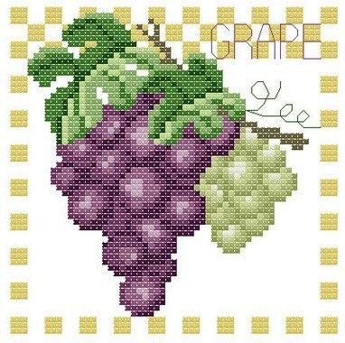 Бесплатная вышивка крестом виноград