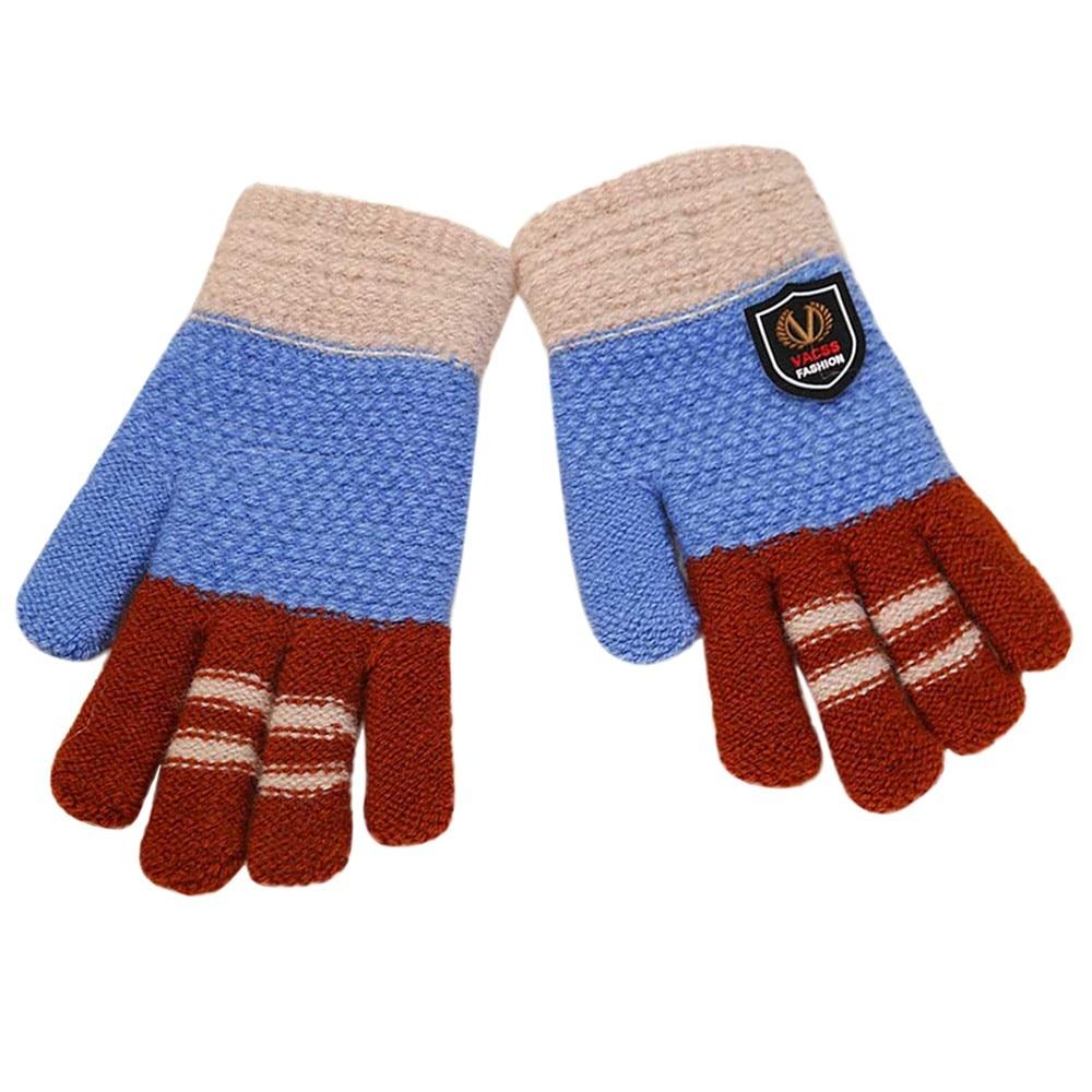 Gloves & Mittens Accessories Fashion Winter Kids Warm Gloves Child Full Finger Ski Gloves Baby Girls Boys Cartoon Children Knitted Stretch Mittens Attractive Designs;