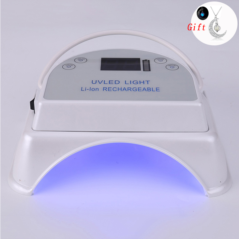64 W lampe à glace LED UV lampe sèche-ongles pour manucure pour tous les Gel sans fil 5000 mAh Rechargeable Portable outils d'art des ongles séchoirs à ongles