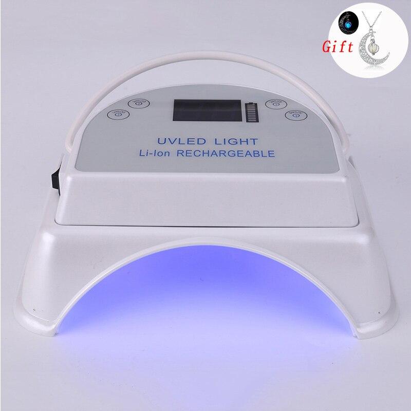 64W Ламповые ленты для Светодиодный УФ лампы для ногтей Сушилка для ногтей Маникюр для всех гель Беспроводной 5000 мА/ч, Перезаряжаемые Портати