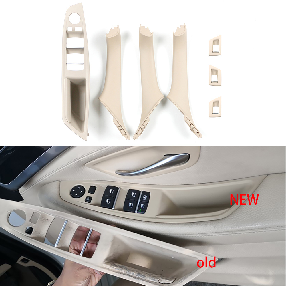 Right Hand Drive RHD For BMW 5 serie F10 F11 520 525 gray Beige Black Car Interior Door Handle Inner Door Panel Pull Trim Cover