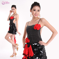 Latin Dance Dress Latin Dance Skirt Suit New Women Square Dance Clothes Exercise Clothing Performance Night Club Dress