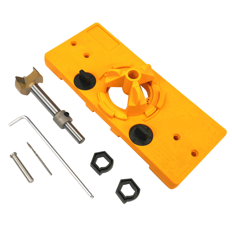 35mm Hinge Hole Saw Jig Drilling Guide Locator Hole Opener Door Cabinets DIY Tool for Woodworking Multifunction Hand Tools35mm Hinge Hole Saw Jig Drilling Guide Locator Hole Opener Door Cabinets DIY Tool for Woodworking Multifunction Hand Tools