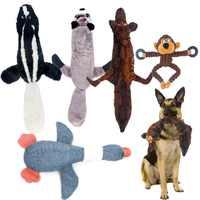 Hund Kauen Spielzeug Pet Welpen Quietschende Spielzeug Nette Wolf Spielzeug Gefüllte Quietschen Tiere Plüsch Kaninchen Hupen Ausbildung Eichhörnchen Pet Liefert