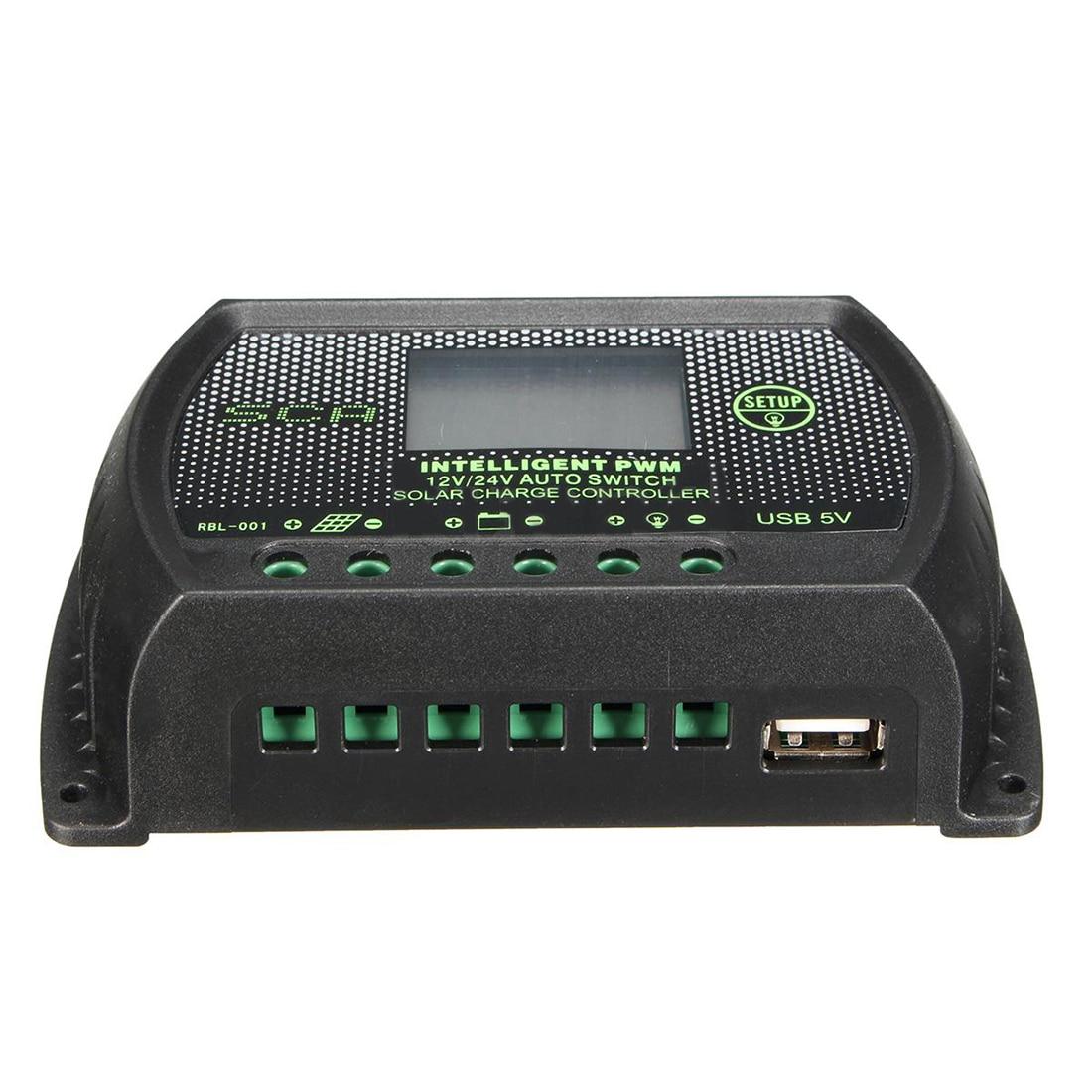 30A 12V / 24V PWM LCD Charge Controller Solar Panel Regulator Controller