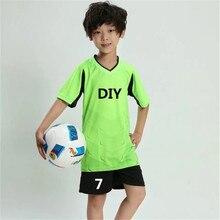 New Kids Boy Soccer Jerseys Set sports survetement Football Kits Uniforms Futbol Training shirts shorts Suit Maillot De Foot DIY