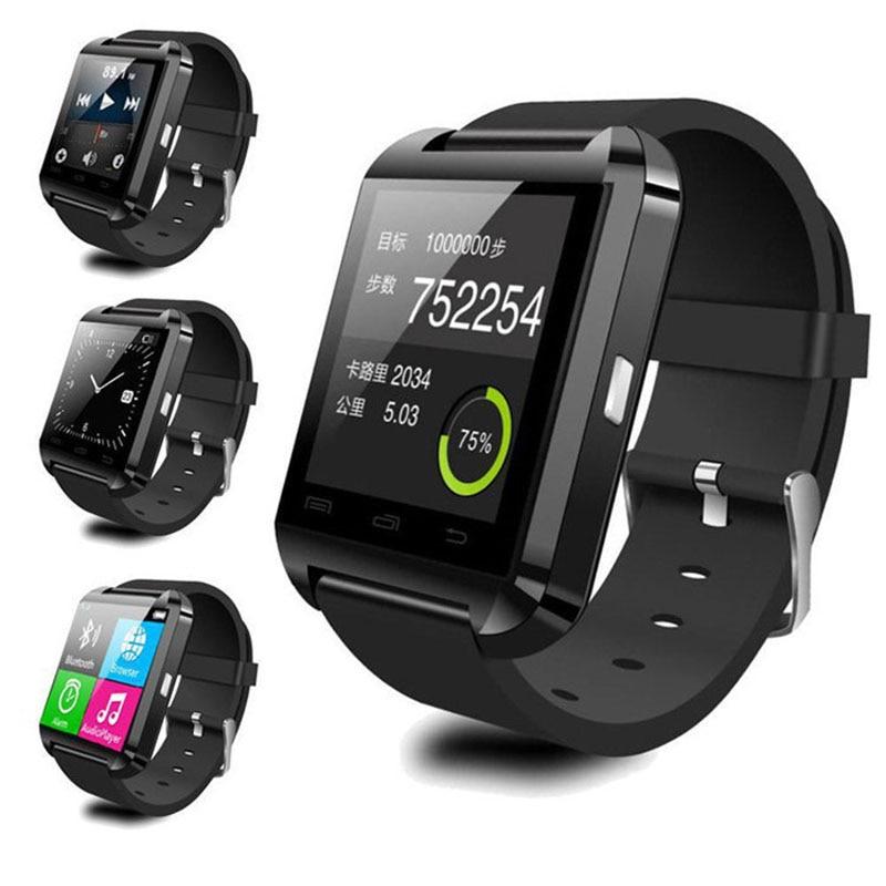 Samsung Huawei LG Xiaomi Android Telefon Smartfonlarına Dəstək Sinxron Çağırış Mesajı üçün Bluetooth Smart Watch Biləkli Saat U8 U Saatı