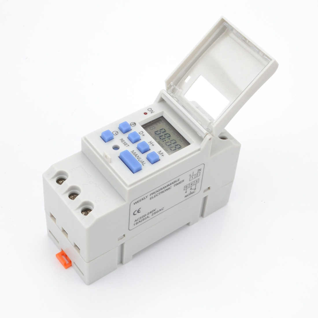 1pc Digital Programmable Timer Switch AC 220V / 110V DC 12V 16A Temporizador Din Rail Timer Switch brand new and high quality