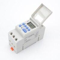 1pc Digitale Programmierbare Timer Schalter AC 220 V/110 V DC 12V 16A Temporizador Din Schiene Timer schalter marke neue und hohe qualität-in Timer aus Werkzeug bei