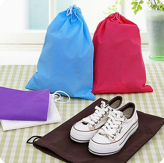 Zboží pro domácnost Cestovní přenosné Netkané šňůrkové boty sáčky silnější potisk tkané Šňůrky boty ss300 skladování ss300
