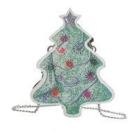 2018 Weihnachtsbäume Messenger Bags Frauen 3D Ketten Taschen Weibliche Mode Umhängetasche Damen Designer Marke Crossbody Bolsa Neue