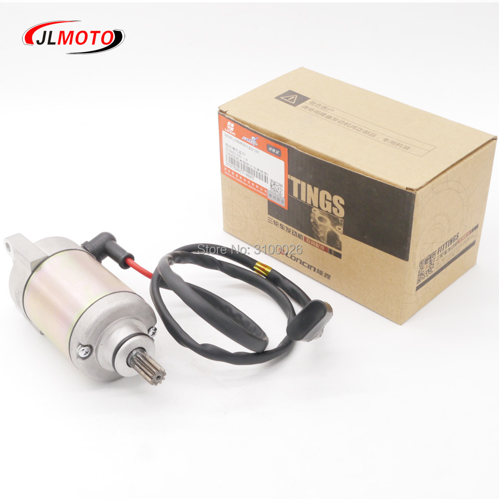 12V Electric Starter Motor Fit For LC172MMP Loncin 250cc Water Cooled Engine Mikilon BSE Jinling ATV Dirt Bike Scooter Parts