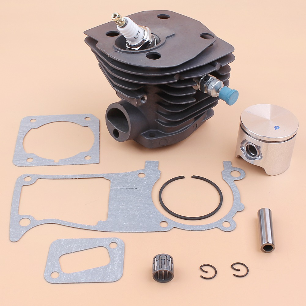 44MM Cylinder Piston Gasket Compression Release Valve Kit For HUSQVARNA 350 346 351 353 Chainsaw Engine Motor Parts 44mm cylinder head piston gasket kit for husqvarna 350 346 246xp 351 353 chainsaw 503869971