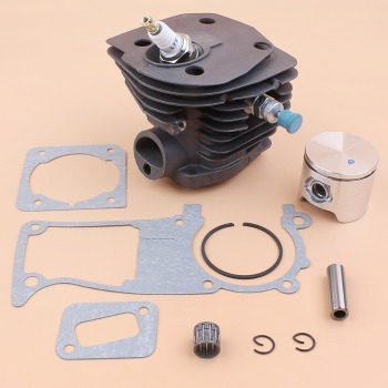 44MM Cylinder Piston Gasket Compression Release Valve Kit For HUSQVARNA 350 346 351 353 Chainsaw Engine Motor Parts engine motor cylinder piston rings kit for husqvarna 55 51 50 chainsaws 45mm