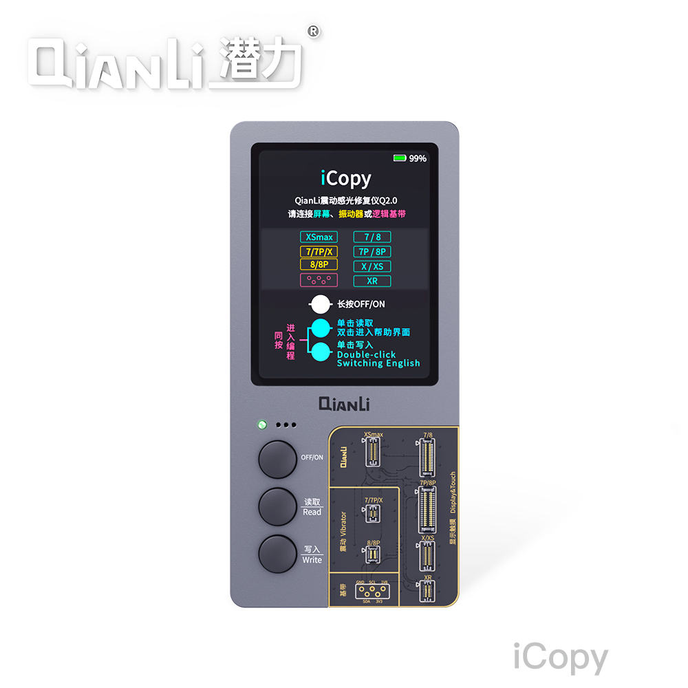 Image 2 - QIANLI iCopy LCD Screen Original Color Repair Programmer for iPhone XR XSMAX XS 8P 8 7P 7 Vibration/Touch/Photosensitive RepairPower Tool Sets   -