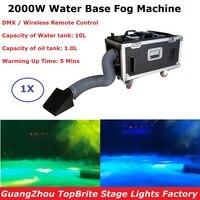 1Pc/Lot Free Shipping Small Case 2000W Water Base Fog Machine Water Mist Hazer Low Fog Smoke Machine For Wedding Stage Dj Light