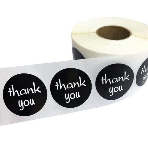 1 5 1000 pces redondo obrigado voce etiqueta etiquetas removiveis autoadesivas casca e vara etiqueta