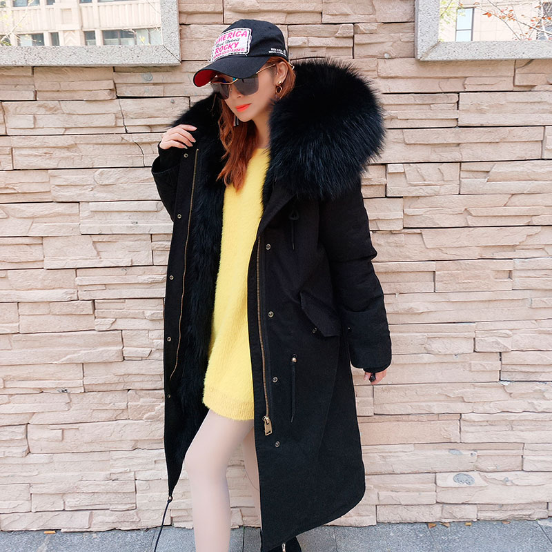 3 longue 1 Raton À 2018 X 4 5 Parka D'hiver Veste Femmes Grande color Naturel Avec 2 De Casual color Manteau Doublure Chaud color Capuchon Nouvelles 6 color Fourrure Color Laveur Véritable color nv7qvr0FBw