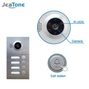 """Image 3 - 4 wohnungen 7 """"Multi Wohnung Video Tür Telefon System Video Intercom Türklingel System 1200 TVL Kamera Touch Key für 4 familien"""