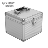 Orico BSC35 Aluminum 5 10 3 5 Inch Hard Drive Protection Box Storage With Locking Silver