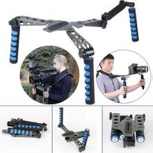 Новый 2017 Камеры DSLR Кино Системы Rig Плечевой Камкордер Стабилизатор для Canon 5D Mark II/1D/7D/550D для Nikon D4/D800 для Sony