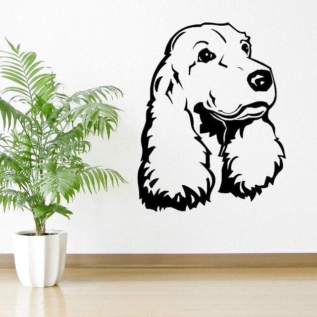 Animal Wall Art aliexpress : buy cocker spaniel dog vinyl wall art room