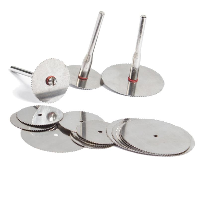 10x 22mm utensili da taglio a lama circolare per utensili per la lavorazione del legno tagliati disco da taglio in acciaio per utensili rotanti dremel Spedizione gratuita
