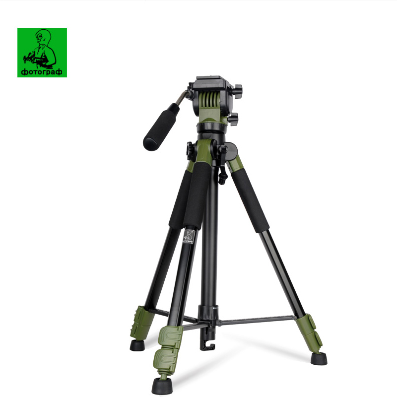 Newest SYS-300 Professional Portable Aluminum Tripod SYS300 3D Handle Damping Head For Canon Eos Nikon Sony Fuji DSLR Camera