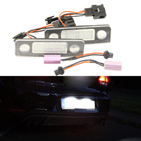 2x 18 SMD Error Free LED LICENSE PLATE LIGHT For Skoda Octavia 2008 Facelift Roomster Car