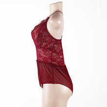 Europe and the United States women transparent lace appeal pajamas exotic red v-neck sexy lingerie wholesale and retail