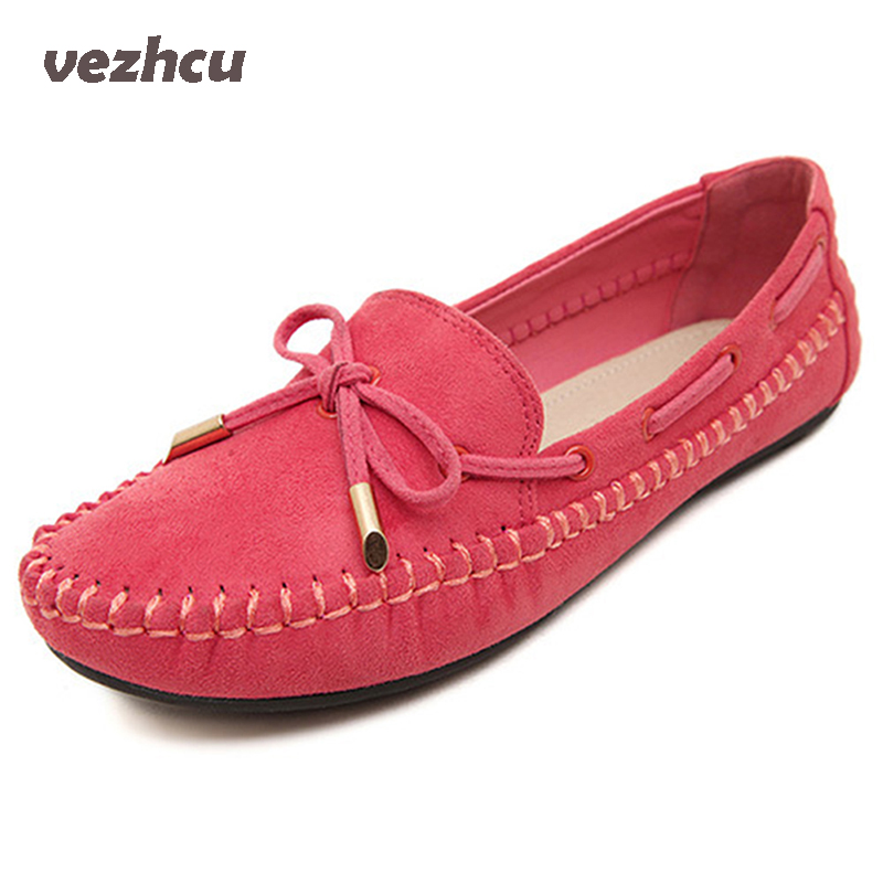 VZEHCU Women Apartments Loafers Moccasins Wild Driving Women Casual Shoes Leisure Concise Flat Shoe Plus Size 35-41 cd02