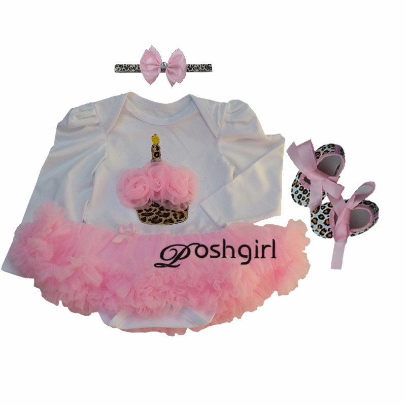 Pink Rose Baby Girl Clothes Newborn Bebe Party Dress Minnie Baby