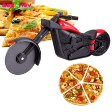 Motorcycle Pizza Cutter Innovative Pizza Wheel Roller Tool Bicycle Pizza Knives Kitchen Cut Tools Stainless Steel Pizza Cutter I цена и фото
