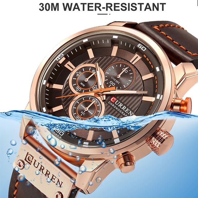 CURREN Luxury Brand Men Analog Leather Sports Watches Men's Army Military Watch Male Date Quartz Clock Relogio Masculino 2019 4