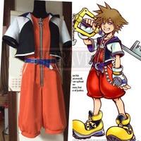 Kingdom Hearts 1 Sora Cosplay Costume Adult Halloween Custom Made Movie Cos