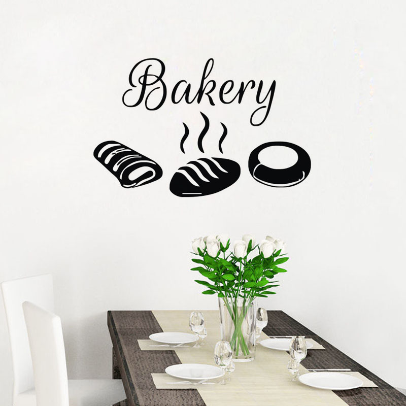 bakery wall stickers kitchen waterproof decorative stickers bread