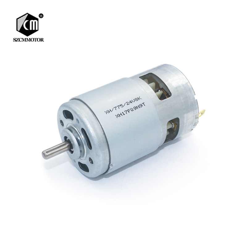 775 DC 12v 24v Electric spindle Motor Ball bearing high speed large torque small motor for electric tool